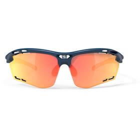 Rudy Project Propulse Bril, blue navy matte/multilaser orange